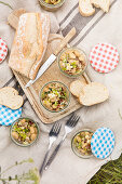 White bean salad with sundried tomatoes and feta