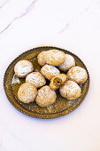 Kahk - small circular biscuit eaten across the arab world to celebrate eid al-fitr and easter