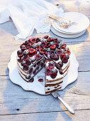 Poppyseed cherry cake