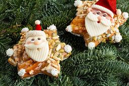 Father Christmas gingerbread as an edible Christmas decoration