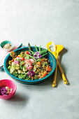 Herby Grain Bowl with Avocado, Beans and Radish