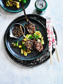 Spice Alley Grilled XinXiang Lamb Skewers Smacked Cucumber Salad