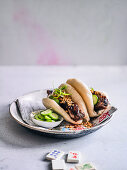 Braised Pork Belly Bao Buns with Crushed Peanuts
