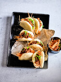 Bao Buns With Spicy Chicken 'Sloppy Joes' and Pickles