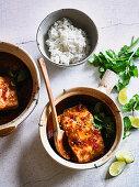 Vietnamese Caramel Salmon with Hot Pot Ginger