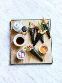 Japanese Hand Rolled Temaki