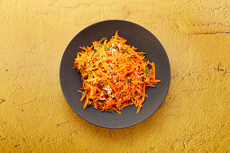 Indian carrot salad with coconut and caraway