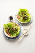 Thai pork mince salad with lime, chilli and coriander