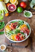 Citrus fruit salad with fennel