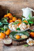 Tangerine crinkle cookies