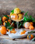 Tangerine icecream