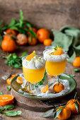 Tangerine jelly with cream