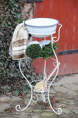 Antique outdoor vanity
