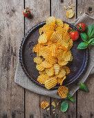 Potato chips with Mediterranean spices