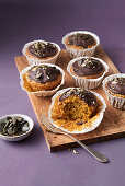 Hearty carrot muffins with ginger