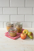 Apple and pear puree with vanilla