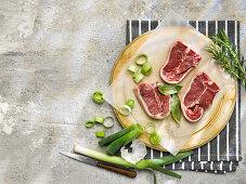 Raw Lamb Loin Chops