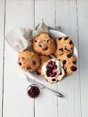 Blueberry scones with cinnamon sugar butter