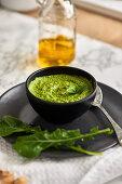 Homemade basil and arugula pesto
