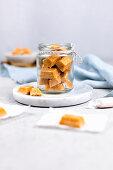 Home-made caramels