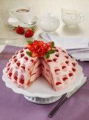 Strawberry mascarpone dome with Grand Marnier