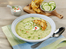 Cold cucumber-and-potato soup