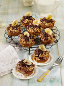 Oat and almond milk cupcakes with bananas