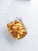 Potato Wedges with Bolognese Sauce