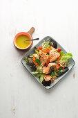 Plucked' salmon salad with kritharaki