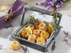 Provencal lemon gugls with rosemary and thyme