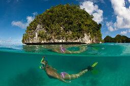 Snorkeling in Palau, Micronesia, Palau