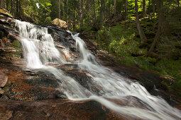 Rissloch-Wasserfälle bei Bodenmais, Bayrischer Wald, Bayern, Deutschland