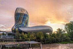La Cite du Vin, Weinmuseum, Bordeaux, Gironde, Aquitanien, Frankreich
