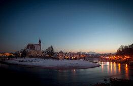 Stille Nacht, Grenze, Oberndorf, Laufen, Salzach, katholisches Brauchtum, Weihnachtszeit, christliches Brauchtum, Deutschland, Österreich, Europa