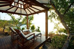 Die Aussichtslaube am Pavillion ist nur für Gäste, Lizard Island, Queensland, Australien