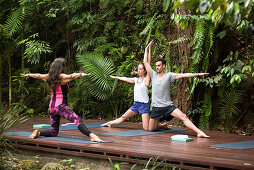 Die Lodge bietet Yogaunterricht an, Silky Oaks Lodge, Queensland, Australien
