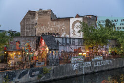 Yaam club, An der Schillingbruecke,  Friedrichshain, Berlin, Deutschland