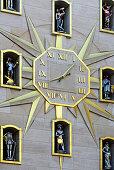 Uhr, Maison de la Dynastie, Altstadt, Brüssel, Bruxelles, Brussel, Belgien, Benelux