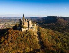 Burg Hohenzollern, Schwäbische Alb, Hechingen, Baden-Württemberg, Deutschland