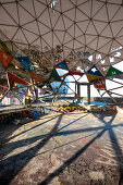 Picture from the inside of the radar dome of the former listening station on Teufelsberg, Grunewald; Berlin; Germany;