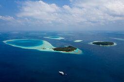 Ferieninsel Villivaru und Biyaadhoo, Sued Male Atoll, Indischer Ozean, Malediven