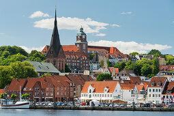 Blick auf Flensburg, Schleswig-Holstein, Deutschland