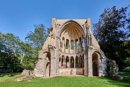 Ruin Heisterbach Monastery in the evening sun, Koenigswinter / Rhine, Germany