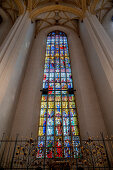 Scharfzandt window; Choir chapel; Peter Hemmel von Andlau; 1488 to 1493; Late Gothic;