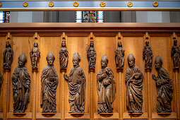 Apostles and busts of prophets; Presbytery; Ersasmus Gasser; 1502; Late Gothic;