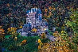 At daybreak at Eltz Castle, Rhineland-Palatinate, Germany, Europe
