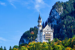 Neuschwanstein Castle on a late summer day, Oberallgäu, Bavaria, Germany
