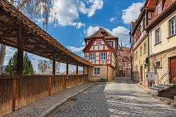 Strauer Torweg in Kronach, Bavaria, Germany