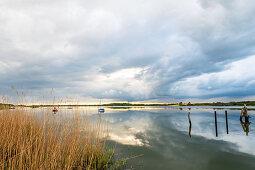 Sailing boats on the Schlei, Sieseby, Schlei, Schwansen, Thumby, Schleswig-Holstein, Germany
