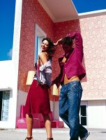 tanzendes Paar in Miami, USA